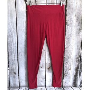 Lularoe TC Tall & Curvy Solid Pink Leggings